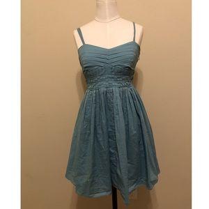 Vintage style blue zipper up dress 👗 💕
